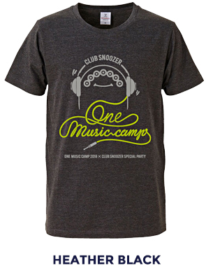 ONE MUSIC CAMP × CLUB SNOOZER TEE BLACK