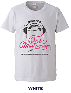 ONE MUSIC CAMP × CLUB SNOOZER TEE WHITE